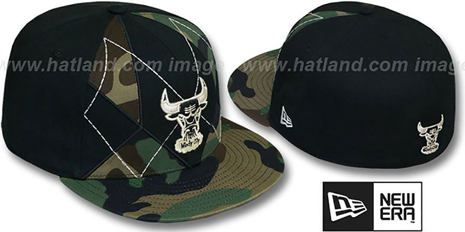 Bulls 'HWC ARMY CAMO BRADY' Fitted Hat by New Era : pictured without stickers that these products are shipped with