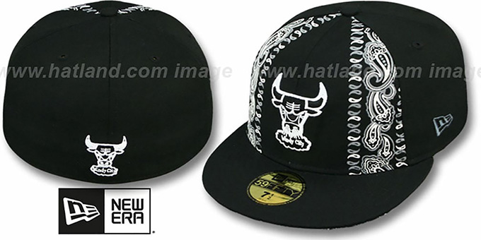 Bulls 'HWC BLACK BANDITO' Fitted Hat by New Era : pictured without stickers that these products are shipped with