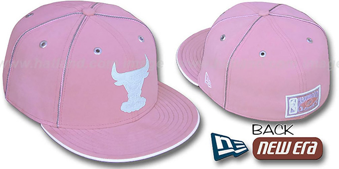Bulls HWC 'PINK DaBu' Fitted Hat by New Era : pictured without stickers that these products are shipped with