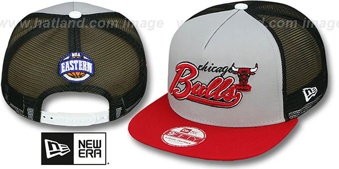 Bulls 'MARK-MESH A-FRAME SNAPBACK' Hat by New Era : pictured without stickers that these products are shipped with