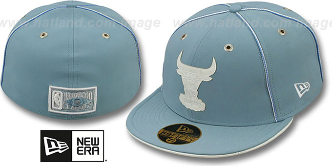 Bulls 'SKY BLUE DaBu' Fitted Hat by New Era : pictured without stickers that these products are shipped with