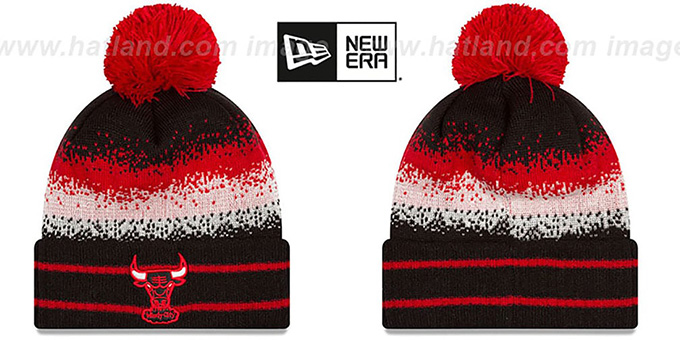 Bulls 'SPEC-BLEND' Knit Beanie Hat by New Era : pictured without stickers that these products are shipped with