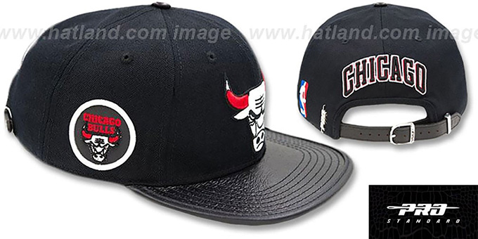 f2431380c2a Chicago Bulls TEAM-BASIC STRAPBACK Black Hat by Pro Standard