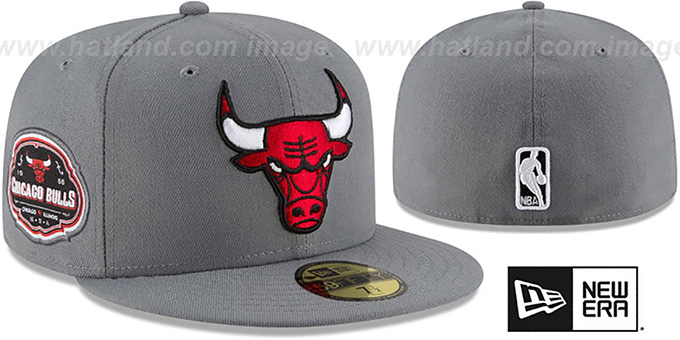 Bulls 'TEAM-SUPERB' Grey Fitted Hat by New Era : pictured without stickers that these products are shipped with