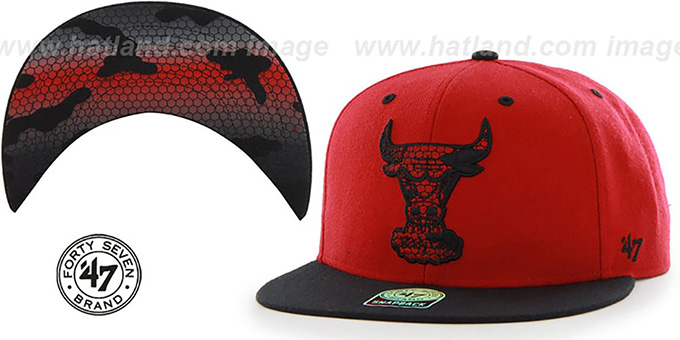 Bulls 'THE-PLAINS SNAKE SNAPBACK' Hat by Twins 47 Brand : pictured without stickers that these products are shipped with