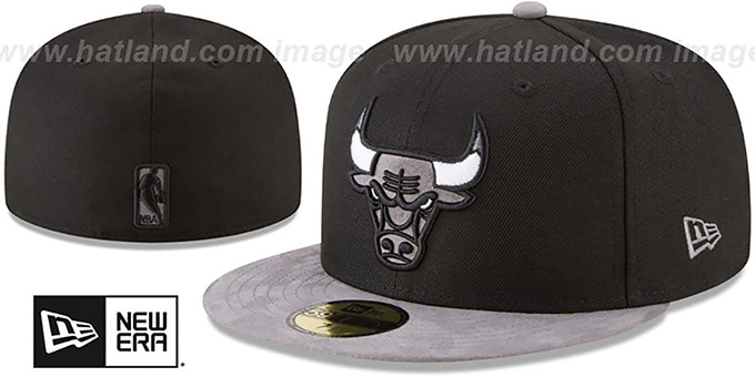 426674ca3 Chicago Bulls TONAL-CHOICE Black Fitted Hat by New Era