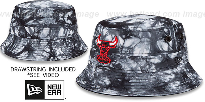 Bulls 'TYE-DYE ZONE' Bucket Hat by New Era : pictured without stickers that these products are shipped with