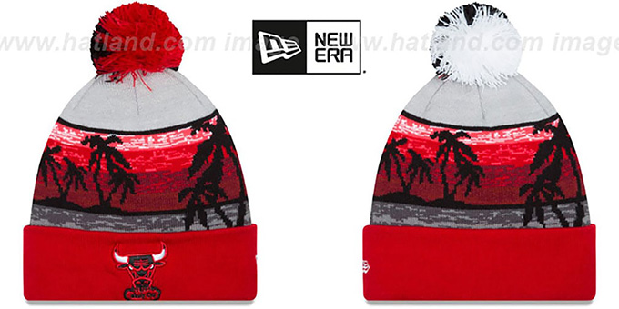 Bulls 'WINTER BEACHIN' Knit Beanie Hat by New Era : pictured without stickers that these products are shipped with