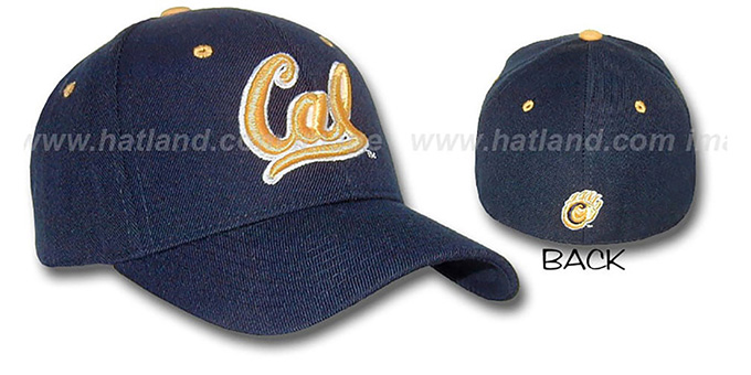 Cal 'DH' Fitted Hat by ZEPHYR - navy : pictured without stickers that these products are shipped with