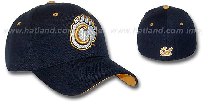 Cal 'DHS' Fitted Hat by ZEPHYR - navy : pictured without stickers that these products are shipped with