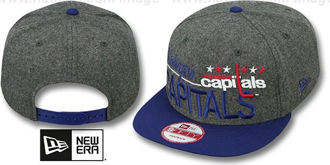 Capitals  FLANNEL SNAPBACK  Grey-Navy Hat by New Era 769fa6217