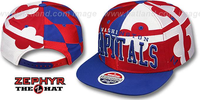 Washington Capitals MARYLAND SUPER-FLAG SNAPBACK Hat by ... ecde7144eab