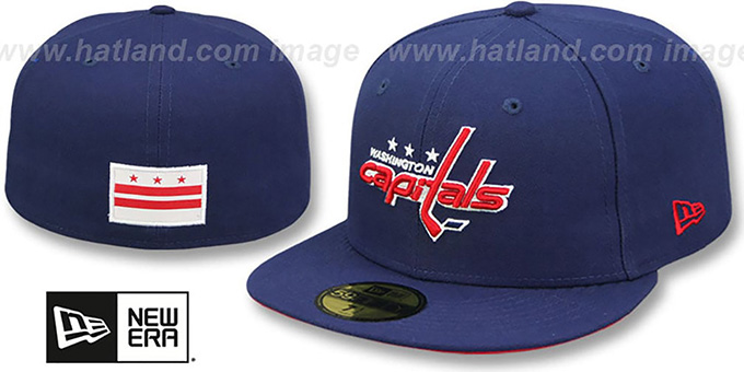 Capitals 'STATE STARE' Navy Fitted Hat by New Era