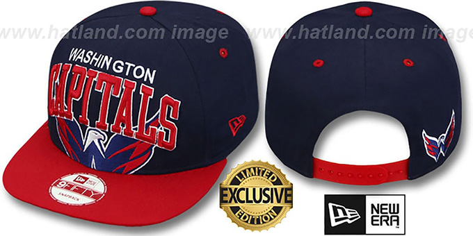 Capitals 'SUPER-LOGO ARCH SNAPBACK' Navy-Red Hat by New Era