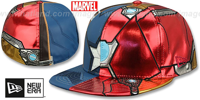 Captain America VS Ironman CHARACTER ARMOR Fitted Hat by New Era c429e32f7716