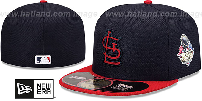 Cardinals '2013 WORLD SERIES' DIAMOND-TECH Hat by New Era : pictured without stickers that these products are shipped with