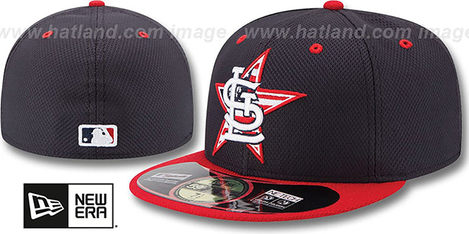 Cardinals '2014 JULY 4TH STARS N STRIPES' Hat by New Era : pictured without stickers that these products are shipped with