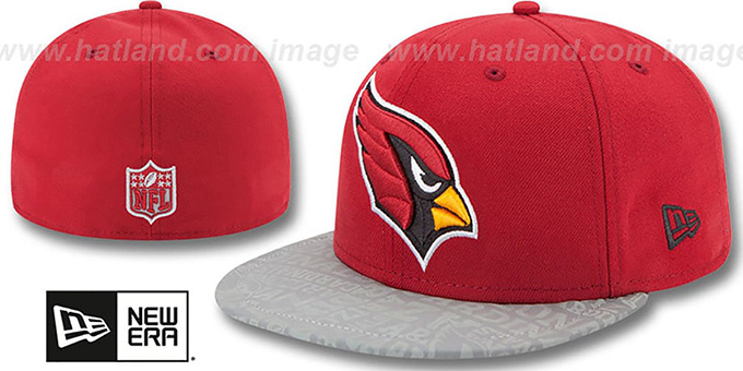 Cardinals '2014 NFL DRAFT' Burgundy Fitted Hat by New Era : pictured without stickers that these products are shipped with