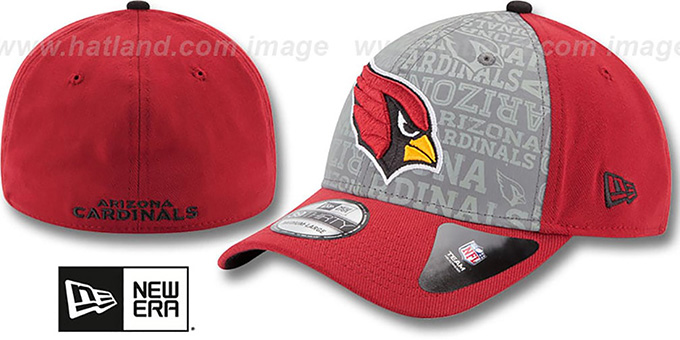 Cardinals '2014 NFL DRAFT FLEX' Burgundy Hat by New Era : pictured without stickers that these products are shipped with