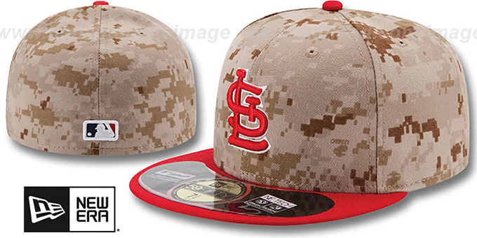 Cardinals '2014 STARS N STRIPES' Fitted Hat by New Era : pictured without stickers that these products are shipped with