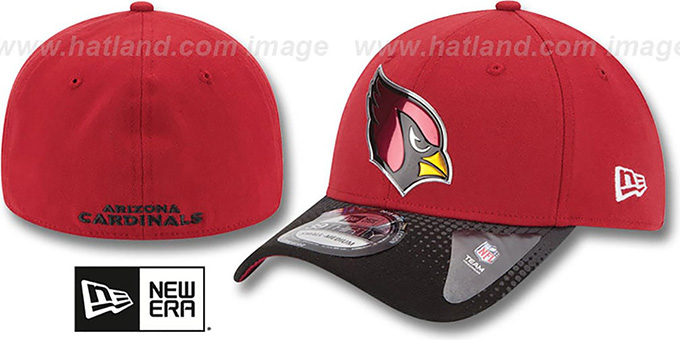 Cardinals '2015 NFL DRAFT FLEX' Hat by New Era : pictured without stickers that these products are shipped with