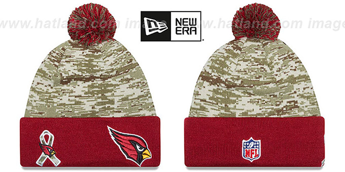 Cardinals '2015 SALUTE-TO-SERVICE' Knit Beanie Hat by New Era : pictured without stickers that these products are shipped with