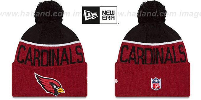 Cardinals '2015 STADIUM' Cardinal-Black Knit Beanie Hat by New Era : pictured without stickers that these products are shipped with