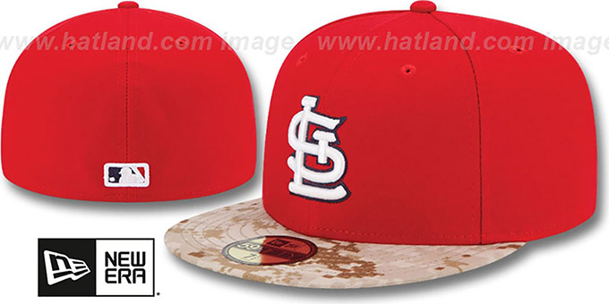 Cardinals '2015 STARS N STRIPES' Fitted Hat by New Era : pictured without stickers that these products are shipped with