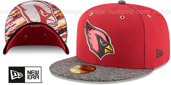 Cardinals '2016 NFL DRAFT' Fitted Hat by New Era : pictured without stickers that these products are shipped with