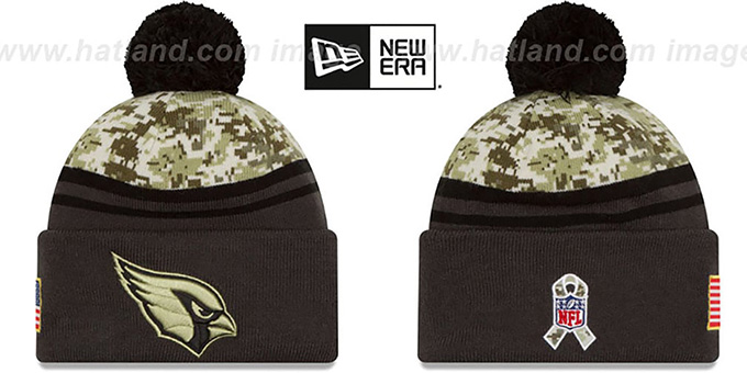 Cardinals '2016 SALUTE-TO-SERVICE' Knit Beanie Hat by New Era : pictured without stickers that these products are shipped with