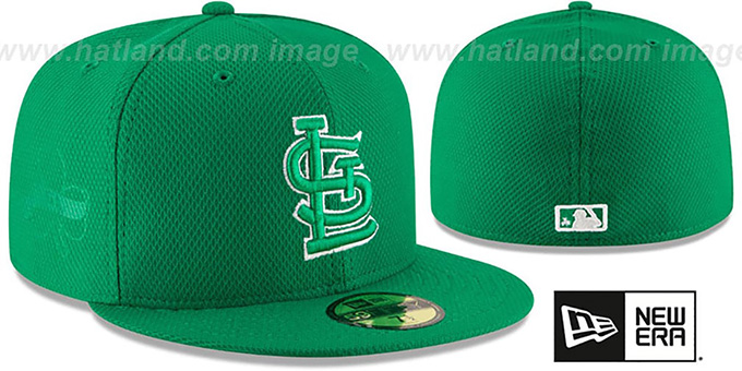 Cardinals '2016 ST PATRICKS DAY' Hat by New Era : pictured without stickers that these products are shipped with