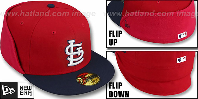 Cardinals 'CLEAN CUT FLIP-DOWN' Red-Navy Fitted Hat by New Era