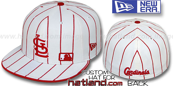 Cardinals 'FABULOUS' White-Red Fitted Hat by New Era : pictured without stickers that these products are shipped with