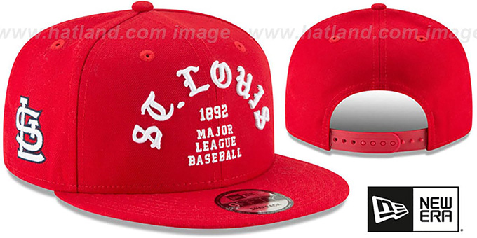 Cardinals 'GOTHIC-ARCH SNAPBACK' Red Hat by New Era