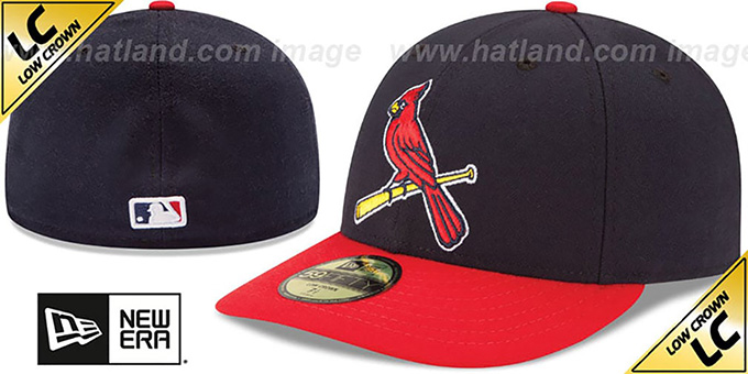 Cardinals 'LOW-CROWN' ALTERNATE-2 Fitted Hat by New Era : pictured without stickers that these products are shipped with
