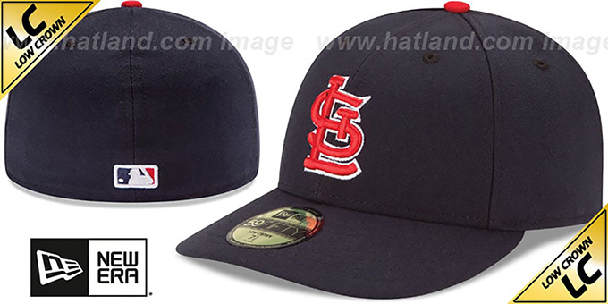Cardinals 'LOW-CROWN' ALTERNATE Fitted Hat by New Era : pictured without stickers that these products are shipped with