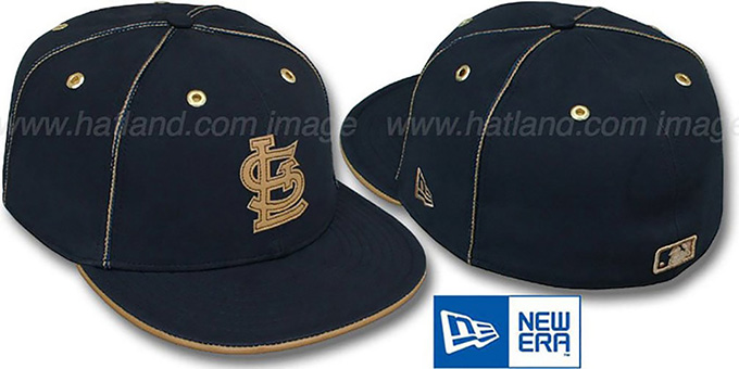 Cardinals 'NAVY DaBu' Fitted Hat by New Era : pictured without stickers that these products are shipped with