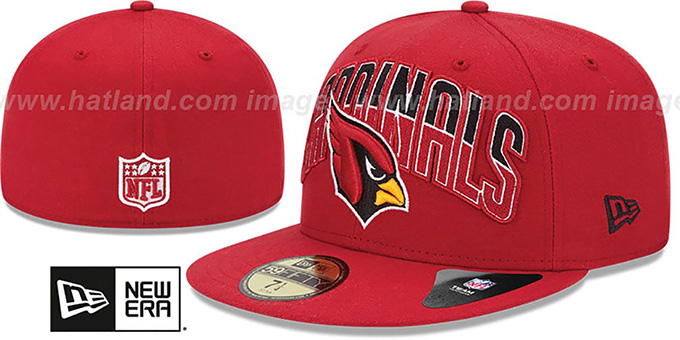 Cardinals 'NFL 2013 DRAFT' Red 59FIFTY Fitted Hat by New Era : pictured without stickers that these products are shipped with