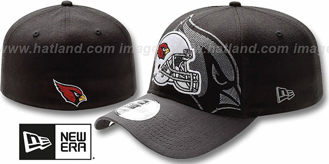 Cardinals 'NFL BLACK-CLASSIC FLEX' Hat by New Era : pictured without stickers that these products are shipped with