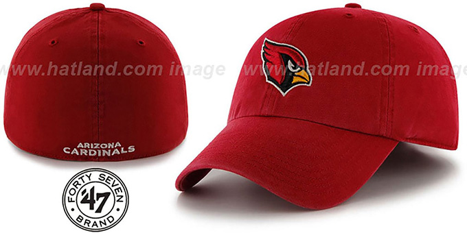 Cardinals 'NFL FRANCHISE' Burgundy Hat by 47 Brand : pictured without stickers that these products are shipped with