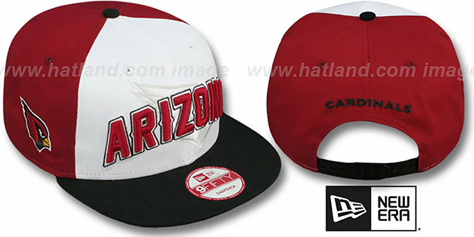 Cardinals 'NFL ONFIELD DRAFT SNAPBACK' Hat by New Era : pictured without stickers that these products are shipped with