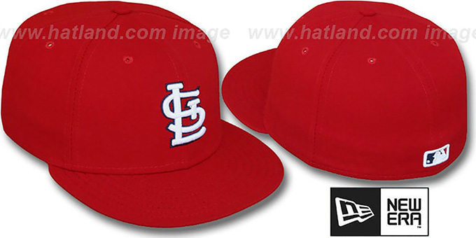 Cardinals 'PERFORMANCE GAME' Hat by New Era : pictured without stickers that these products are shipped with