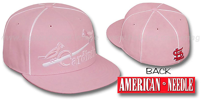 Cardinals 'PINK CADDY' Fitted Hat by American Needle