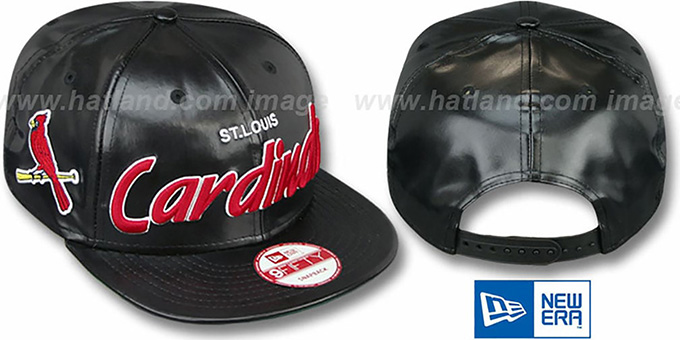 Cardinals 'REDUX SNAPBACK' Black Hat by New Era : pictured without stickers that these products are shipped with