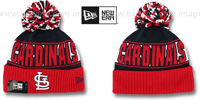 Cardinals 'REP-UR-TEAM' Knit Beanie Hat by New Era : pictured without stickers that these products are shipped with
