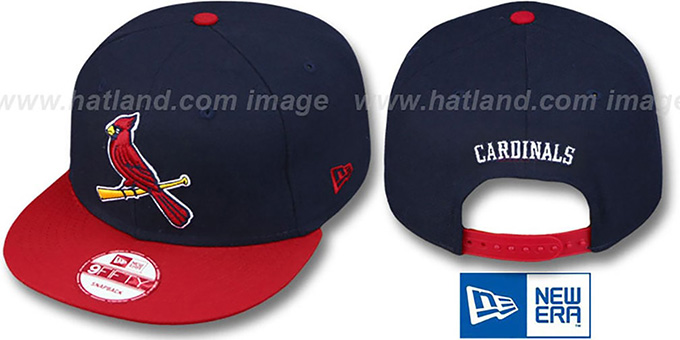 Cardinals 'REPLICA ALTERNATE SNAPBACK' Hat by New Era : pictured without stickers that these products are shipped with