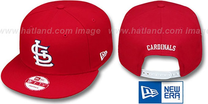 Cardinals 'REPLICA HOME SNAPBACK' Hat by New Era : pictured without stickers that these products are shipped with