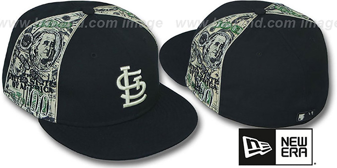 St. Louis Cardinals SHOWMEDA  Black-Money Fitted Hat 1aee2fb967e