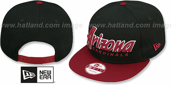 Cardinals 'SNAP-IT-BACK SNAPBACK' Black-Burgundy Hat by New Era : pictured without stickers that these products are shipped with