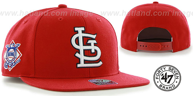 Cardinals 'SURE-SHOT SNAPBACK' Red Hat by Twins 47 Brand
